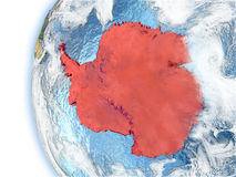 Antarctica on model of Earth Royalty Free Stock Photography