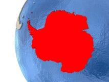 Antarctica na 3D kuli ziemskiej ilustracji