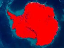 Antarctica na fizycznej mapie Zdjęcia Royalty Free