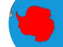 Antarctica na kuli ziemskiej royalty ilustracja