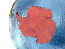 Antarctica na kuli ziemskiej Zdjęcia Royalty Free