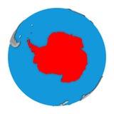Antarctica na kuli ziemskiej Obrazy Royalty Free