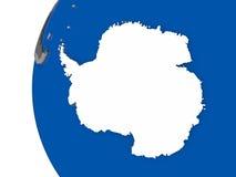 Antarctica na kuli ziemskiej ilustracja wektor