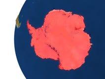 Antarctica na kuli ziemskiej Zdjęcie Stock