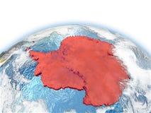 Antarctica na kuli ziemskiej Obraz Royalty Free