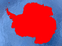 Antarctica na mapie Fotografia Royalty Free