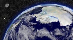 Antarctica na planety ziemi ilustracji