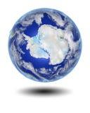 Antarctica na unosić się kulę ziemską Obrazy Stock