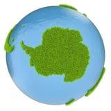 Antarctica na zielonej planecie royalty ilustracja