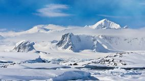 Antarctica natura Nakrywający pasmo górskie zbiory wideo