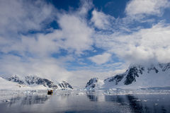 Antarctica nice view. Travel to Antarctica on the ship nice day for cruise Stock Photos