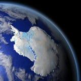 Antarctica od przestrzeni Fotografia Stock