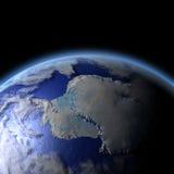 Antarctica od przestrzeni Zdjęcie Royalty Free