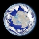 Antarctica od przestrzeni Fotografia Royalty Free