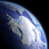 Antarctica od przestrzeni przy świtem Obrazy Royalty Free