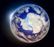 Antarctica od przestrzeni przy zmierzchem Fotografia Royalty Free