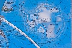 Antarctica op de Kaart Stock Foto