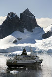 Antarctica - Paradise Bay - Cruise Ship royalty free stock images