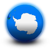 Antarctica on political globe Stock Images