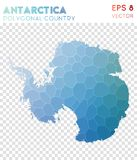 Antarctica polygonal map, mosaic style country. Appealing low poly style, modern design. Antarctica polygonal map for infographics or presentation vector illustration