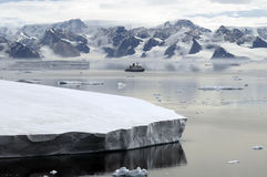 Antarctica and research vessel Stock Photos