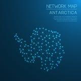 Antarctica sieci mapa royalty ilustracja