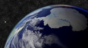 Antarctica from space Stock Images