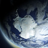Antarctica from space. Antarctica from Earth's orbit in space. 3D illustration with detailed planet surface. Elements of this image furnished by NASA stock illustration