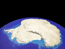 Antarctica on Earth from space vector illustration