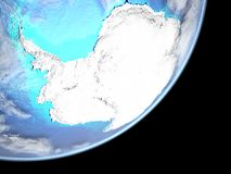 Antarctica on Earth from space. Antarctica from space on planet Earth. 3D illustration. Elements of this image furnished by NASA stock illustration