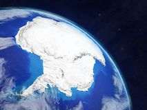 Antarctica from space. Planet Earth with extremely high detail of planet surface and clouds. 3D illustration. Elements of this image furnished by NASA vector illustration