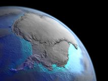 Antarctica from space vector illustration