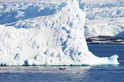 Antarctica on a Sunny day- Antarctic Peninsula - Huge Icebergs. And blue sky Stock Images