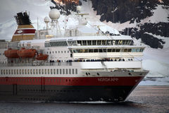 Antarctica - Tourist boat - Lamaire Channel Stock Image