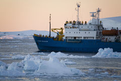 Antarctica - Tourist boat - Lamaire Channel Stock Photo