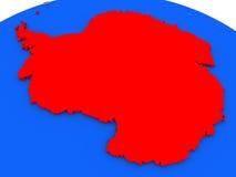Antarctica w czerwieni ilustracja wektor