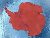 Antarctica w czerwieni Fotografia Royalty Free