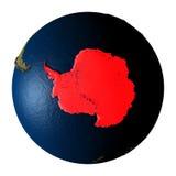 Antarctica w czerwieni na ziemi odizolowywającej na bielu ilustracja wektor