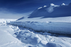 Antarctica Weddell Sea Riiser Larsen Ice Shelf Royalty Free Stock Photography