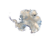 Antarctica On White Background Stock Photo