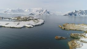 Antarctica wild nature water surface aerial view