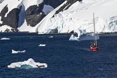 Antarctica Wildlife Expedition. Exploring Antarctica - Sailing Among The Icebergs And Seals - Travel Destination Stock Image