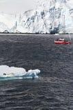 Antarctica Wildlife Expedition. Exploring Antarctica - Sailing Among The Icebergs And Seals - Travel Destination Stock Photos