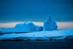 Antarctica in winter. In January 2018 royalty free stock image