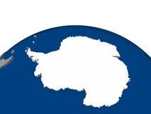 Antarctica z flaga royalty ilustracja