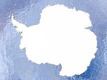 Antarctica z flaga na kuli ziemskiej ilustracja wektor