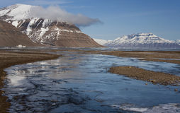 Antarcticahaven in Greenland stock photos