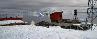 antarcticforskningstation arkivbild