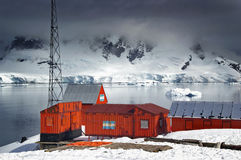 antarcticforskningstation Royaltyfria Bilder