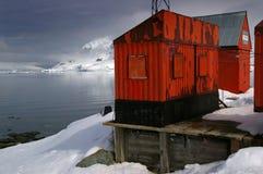 antarcticforskningstation royaltyfri foto